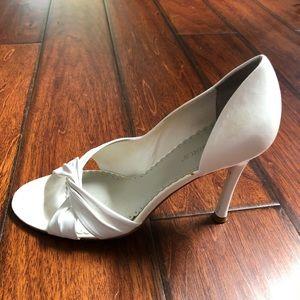 White BCBGirls heels
